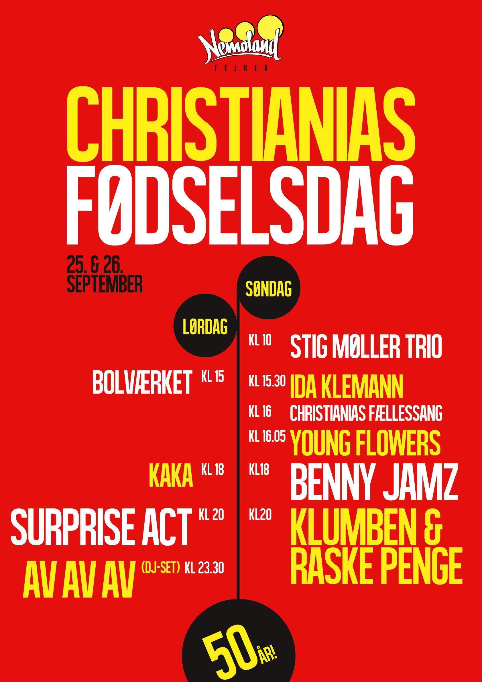 Christiania 50 år fødselsdag